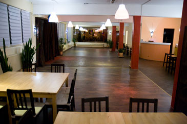 Salsa dance classes in Fuerth: Dance floor at Partyloft