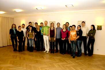 Salsa dance class in Nuremberg: Group photo at the Hotel Cristal