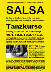 Salsa Classes Bamberg - Flyer