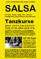 Salsa Classes Erlangen - Flyer